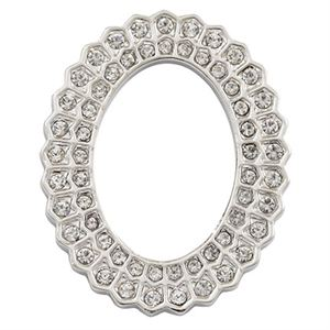 Picture of Crystal Sunburst Silver Oval Frame